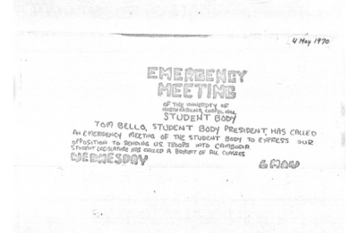 Student activism in tumultuous times: Responses to the Kent State shootings and invasion ofCambodia